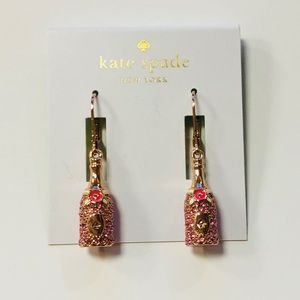 Kate Spade Rose Gold Champagne Earings
